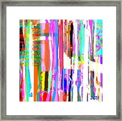 Geometric Lines Of Beauty Framed Print by Jean-Claude Delhaise