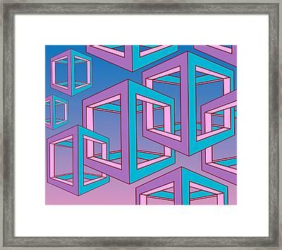 Geometric  Framed Print by Mark Ashkenazi