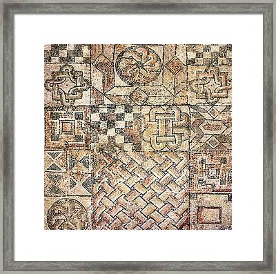 Geometric Mosaic Patterns Framed Print