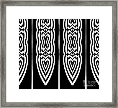 Pattern Geometric Black White Art No.337. Framed Print by Drinka Mercep