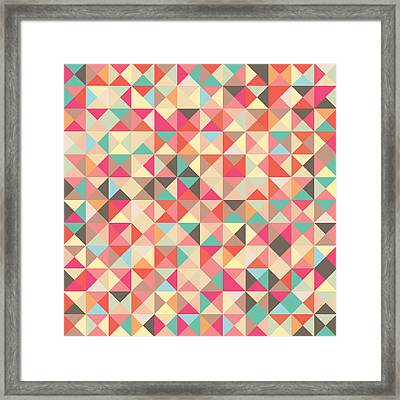 Geometric Pattern Framed Print by Mike Taylor