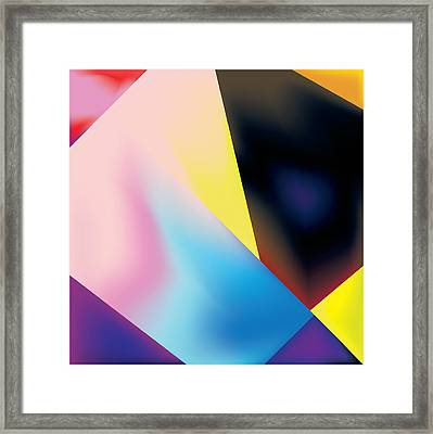 Geometric Pattern With Gradations Framed Print by Gary Grayson