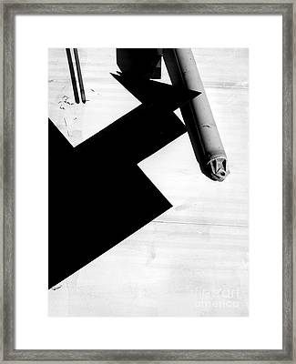 Framed Print featuring the photograph Geometric Shadow by Robert Riordan