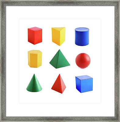 Geometric Shapes Framed Print by Science Photo Library