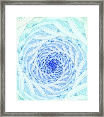 Geometric Spirals Framed Print by David Parker