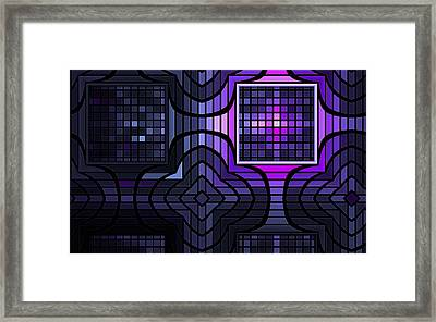 Framed Print featuring the digital art Geometric Stained Glass by GJ Blackman