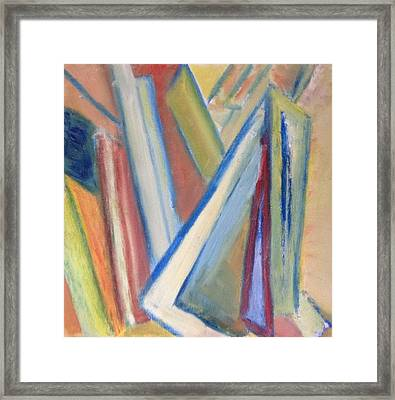 Framed Print featuring the painting Geometric Tension Series V1 by Patricia Cleasby
