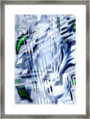 Geometric Transparency In Abstact Art Framed Print by Mario Perez