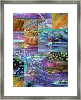 Geometric Winter Framed Print