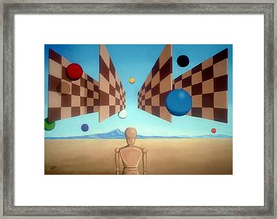 Geometric Witness Framed Print by Michael Bridges