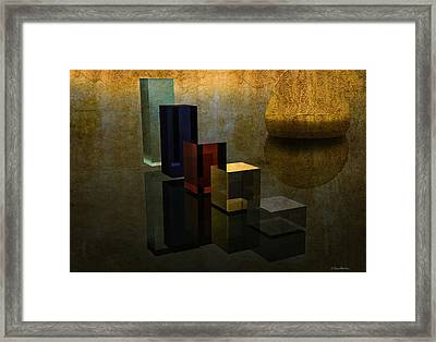 Geometries And Reflections Framed Print by Ramon Martinez