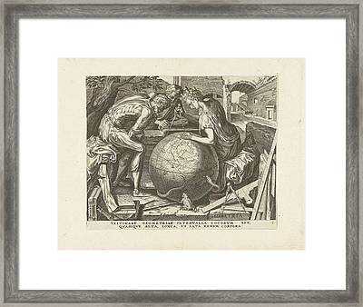 Geometry Geometry, Cornelis Cort, Hieronymus Cock Framed Print