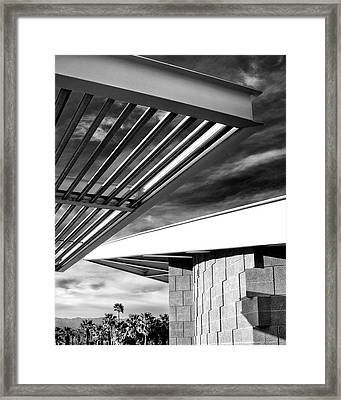 Geometry Lesson Palm Springs Tram Station Framed Print by William Dey
