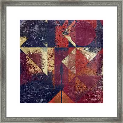 Geomix 04 - 63bv2-t7c Framed Print by Variance Collections