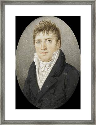 Georg Albrecht Diederichs 1751-1816. Bookseller In Amsterdam Framed Print