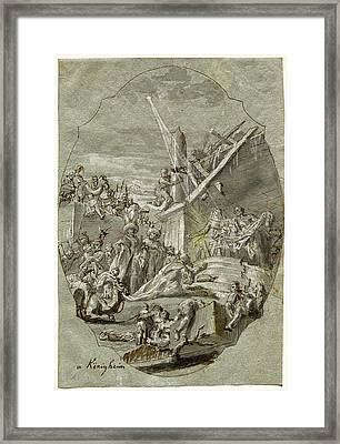 Georg Anton Urlaub, German 1713-1759, The Adoration Framed Print