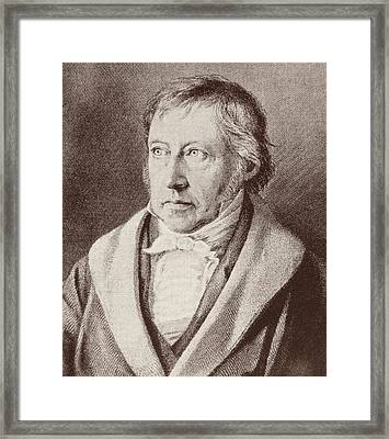 Georg Hegel  Framed Print by Anonymous
