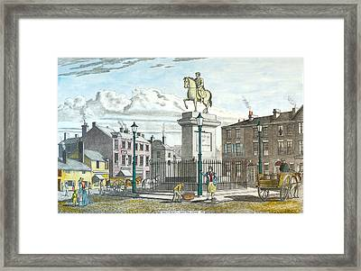 George 111 Statue Liverpool Framed Print