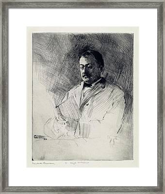 George Agassiz Framed Print by Library Of Congress