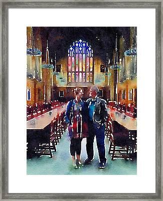 George And Chrissy At Hogwarts Framed Print