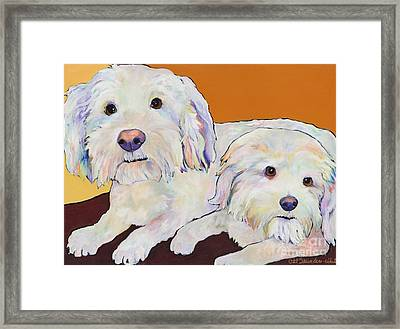 George And Henry Framed Print by Pat Saunders-White