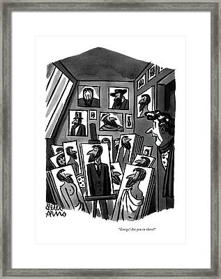 George! Are You In There? Framed Print by Peter Arno
