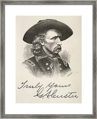 George Armstrong Custer Framed Print by British Library
