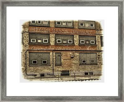 George Banta Company Framed Print by Thomas Young