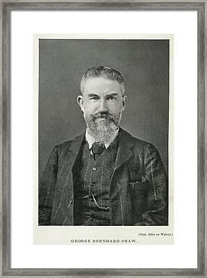 George Bernard Shaw Framed Print by British Library