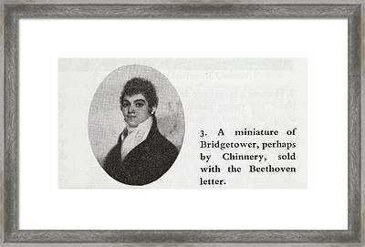 George Bridgetower Framed Print