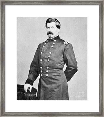 George Brinton Mcclellan Framed Print by American School