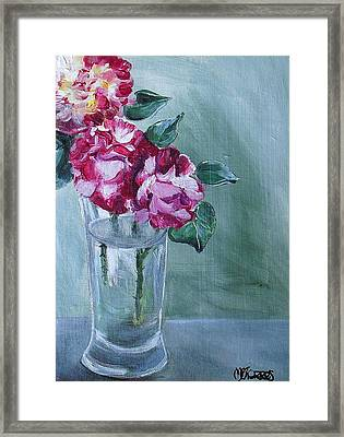 George Burns Roses Framed Print by Melissa Torres