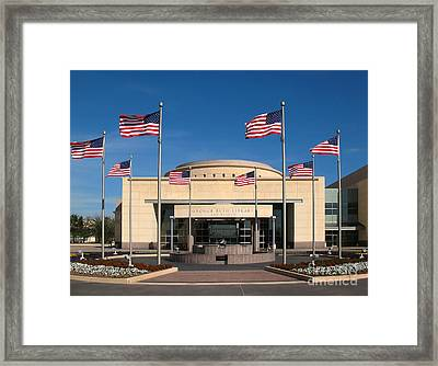 George Bush Presidential Library - College Station Texas Framed Print