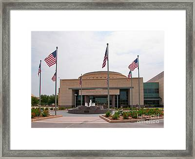 George Bush Presidential Library Framed Print by Mae Wertz