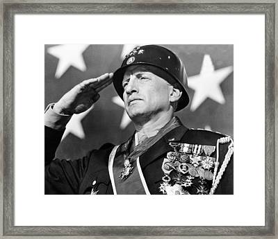 George C. Scott In Patton  Framed Print by Silver Screen
