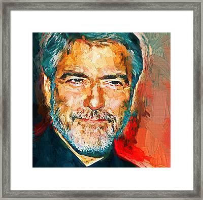 George Clooney Bright Portrait Framed Print