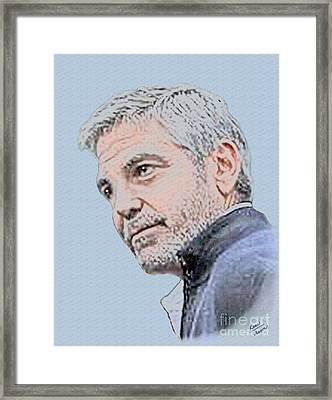 George Clooney Framed Print