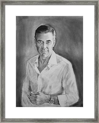 George Clooney Framed Print by John Eaglesham