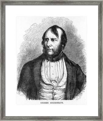 George Cruikshank, British Caricaturist Framed Print by Science Photo Library