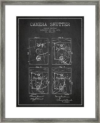George Eastman Camera Shutter Patent From 1892 - Dark Framed Print by Aged Pixel