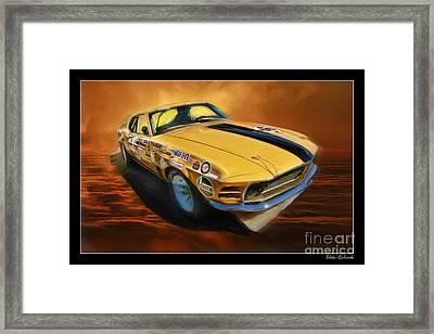 George Follmer 1970 Boss 302 Ford Mustang Framed Print