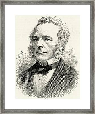 George Gabriel Stokes Framed Print by Universal History Archive/uig