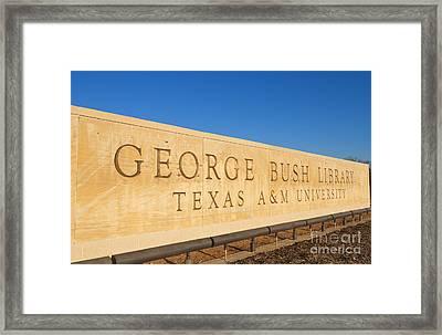 George H. Bush Library, Texas Framed Print by Bill Bachmann