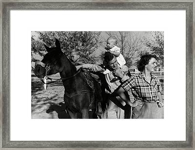 George H. W. Bush With His Wife Framed Print