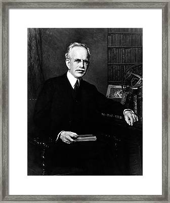 George Hale Framed Print by National Academy Of Sciences Archives, Courtesy Emilio Segre Visual Archives/american Institute Of Physics