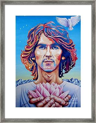 George Harrison Framed Print by Debbie  Diamond