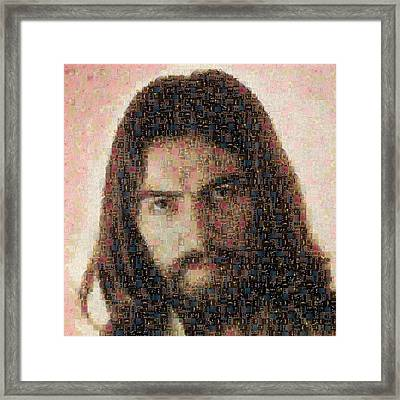George Harrison Mosaic Image 1 Framed Print by Steve Kearns