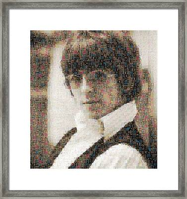 George Harrison Mosaic Image 2 Framed Print by Steve Kearns