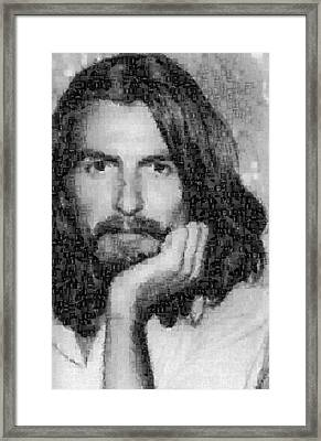 George Harrison Mosaic Image 3 Framed Print by Steve Kearns
