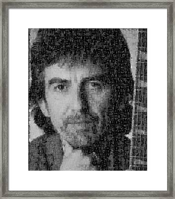 George Harrison Mosaic Image 4 Framed Print by Steve Kearns